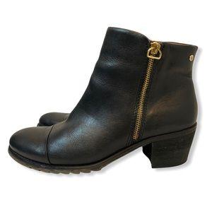 Pikolinos Black Leather Ankle bootie Sz 39